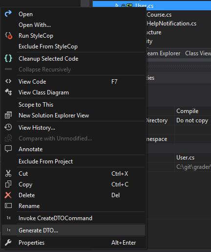 DTO Generator - Visual Studio Marketplace